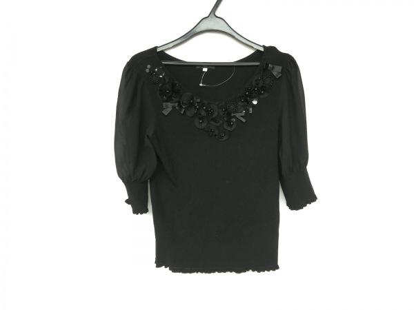 トゥービーシック 半袖セーター サイズ2 M レディース新品同様  黒 1