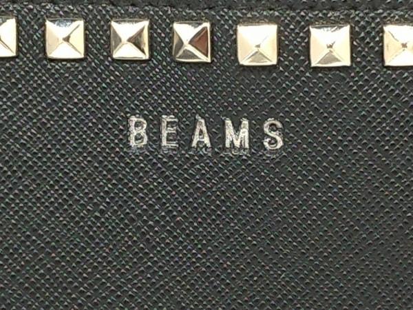BEAMS(ビームス) 財布 黒×シルバー スタッズ レザー 4