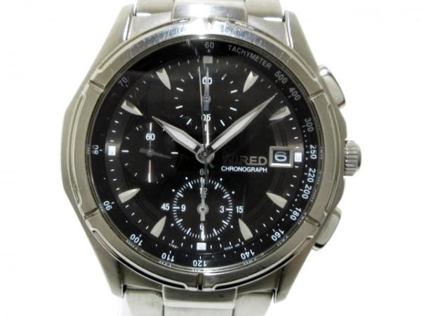 WIRED(ワイアード) 腕時計 7T92-0GB0 メンズ クロノグラフ 黒 1