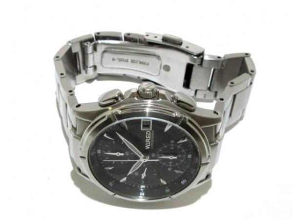 WIRED(ワイアード) 腕時計 7T92-0GB0 メンズ クロノグラフ 黒 2