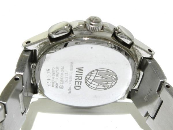 WIRED(ワイアード) 腕時計 7T92-0GB0 メンズ クロノグラフ 黒 4