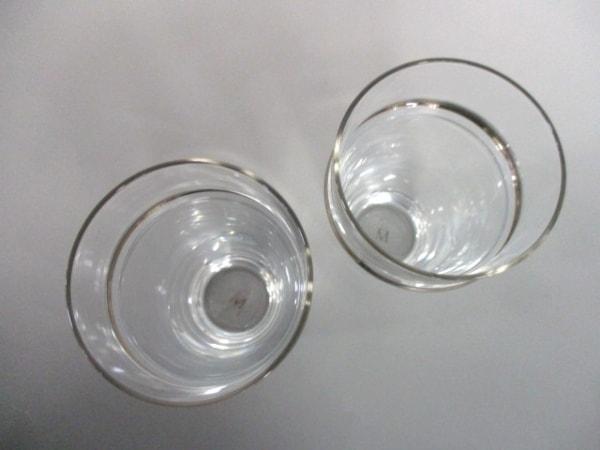 mikimoto(ミキモト) ペアグラス新品同様  クリア×シルバー ガラス 2