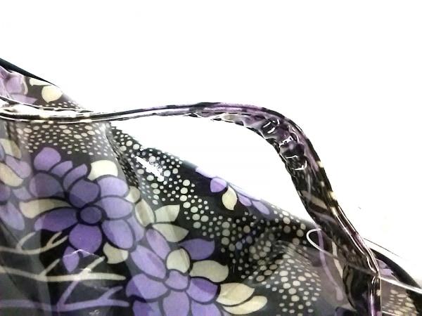アナスイ バニティバッグ - 黒×パープル×アイボリー 花柄 ビニール 8