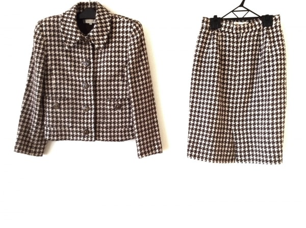ニナリッチ スカートスーツ サイズ9 M レディース ツイード/千鳥格子 1