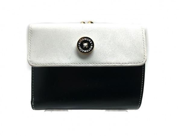 KITAMURA(キタムラ) 3つ折り財布 - 黒×白 がま口 レザー 1