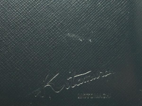 KITAMURA(キタムラ) 3つ折り財布 - 黒×白 がま口 レザー 5