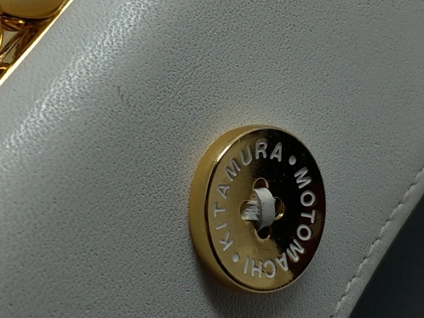 KITAMURA(キタムラ) 3つ折り財布 - 黒×白 がま口 レザー 8