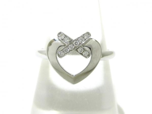 ショーメ リング 52美品  リアンリング K18WG×ダイヤモンド 1