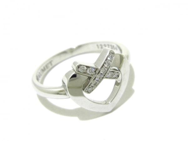 ショーメ リング 52美品  リアンリング K18WG×ダイヤモンド 6
