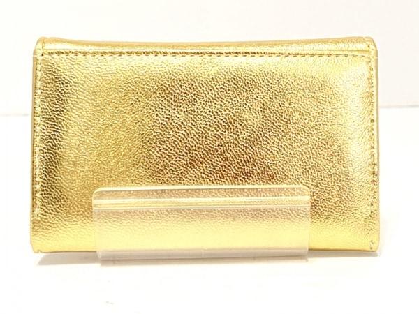 ツモリチサトキャリー 名刺入れ美品  ゴールド 型押し加工 レザー 2