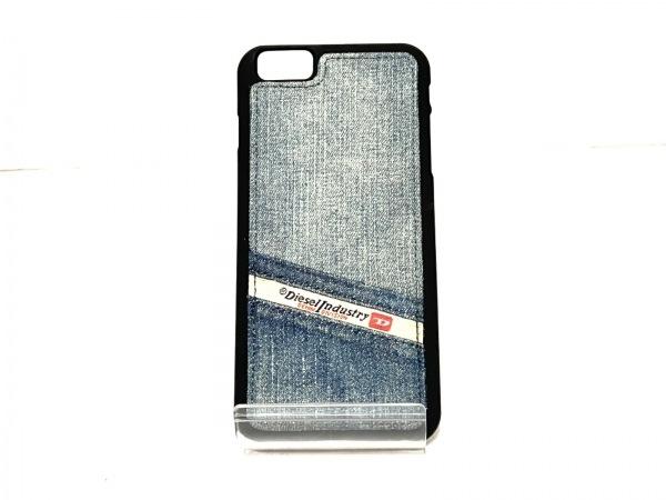 DIESEL(ディーゼル) 携帯電話ケース新品同様  ネイビー×黒×マルチ 1