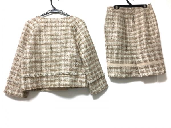 マテリア スカートスーツ レディース - ベージュ×アイボリー 2