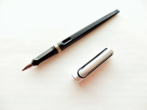 LAMY(ラミー) 万年筆美品  - 黒×シルバー インクなし 1