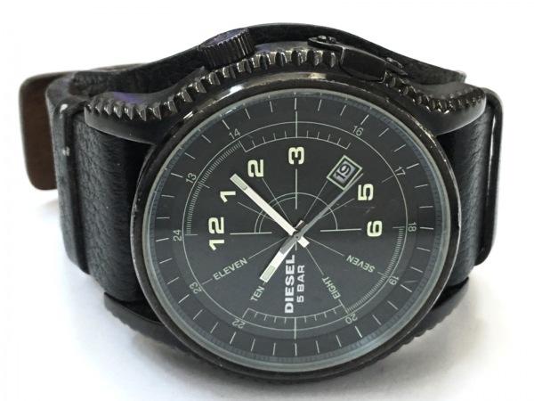 DIESEL(ディーゼル) 腕時計 DZ-1310 メンズ 革ベルト 黒 2