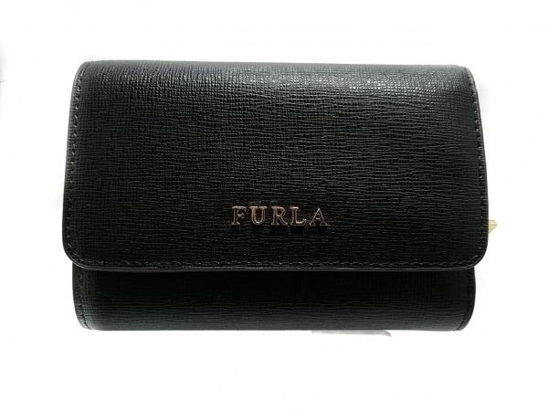 FURLA(フルラ) 3つ折り財布美品  黒 レザー 1