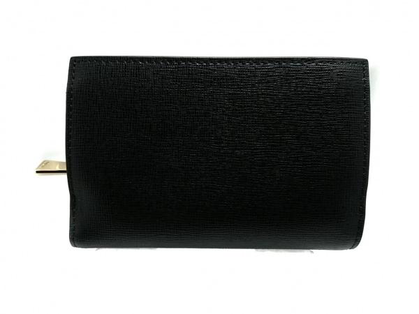 FURLA(フルラ) 3つ折り財布美品  黒 レザー 2