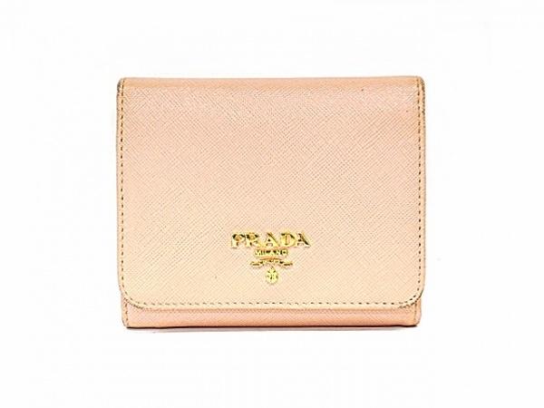 PRADA(プラダ) 3つ折り財布 - ピンク レザー 1