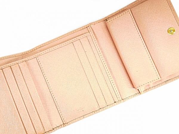 PRADA(プラダ) 3つ折り財布 - ピンク レザー 3