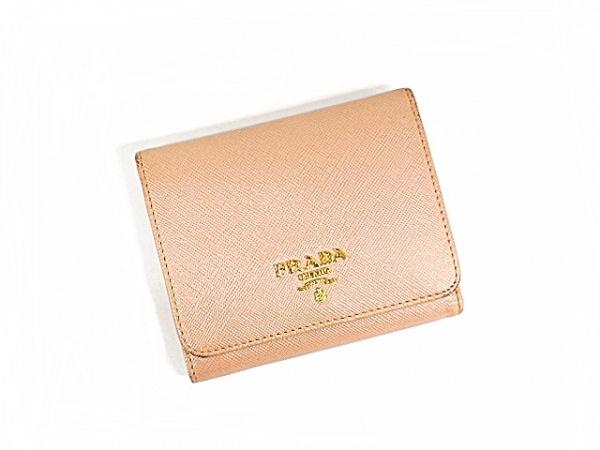 PRADA(プラダ) 3つ折り財布 - ピンク レザー 7