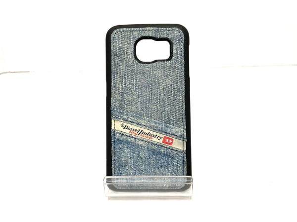 ディーゼル 携帯電話ケース美品  ネイビー×黒 iphoneケース デニム 1