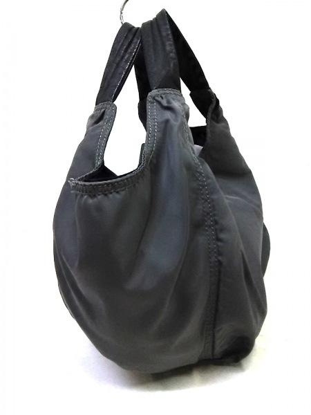 CAMPER(カンペール) ハンドバッグ グレー×黒 ナイロン×レザー 2