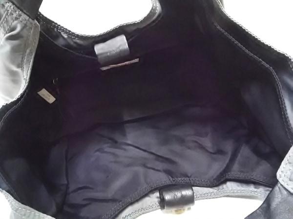 CAMPER(カンペール) ハンドバッグ グレー×黒 ナイロン×レザー 5