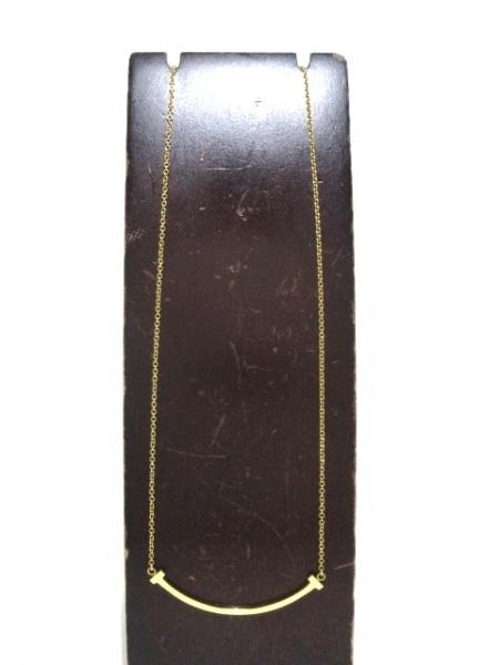 ティファニー ネックレス美品  Tスマイルペンダント(ミニ) K18YG 2