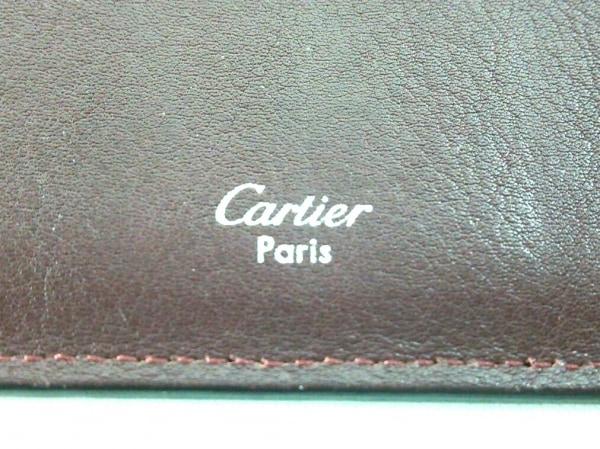 Cartier(カルティエ) 札入れ カボション ボルドー レザー 5