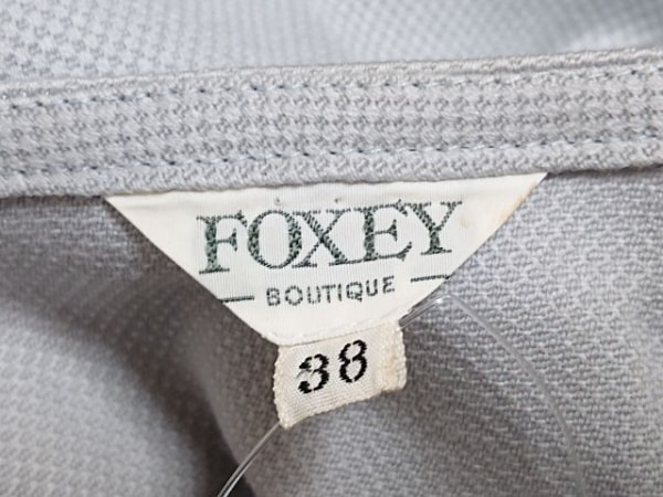 FOXEY(フォクシー) コート サイズ38 M レディース ライトグレー 3