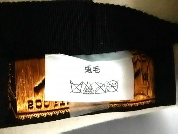 maxim(マキシン) ハット美品  ライトグレー リボン 天然繊維 6