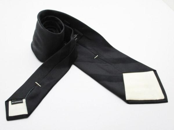 PaulSmith(ポールスミス) ネクタイ メンズ美品  黒 斜めストライプ 2