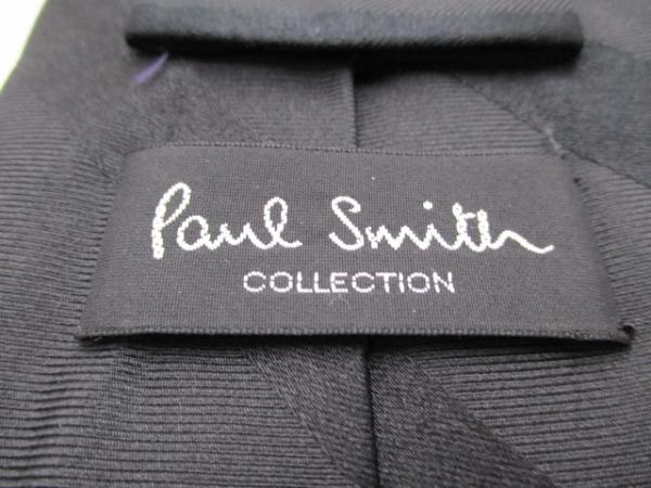 PaulSmith(ポールスミス) ネクタイ メンズ美品  黒 斜めストライプ 3