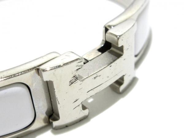 HERMES(エルメス) バングル クリッククラック 金属素材 シルバー×白 5
