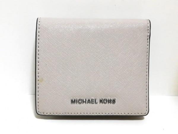 MICHAEL KORS(マイケルコース) 2つ折り財布 - ベージュ レザー 1