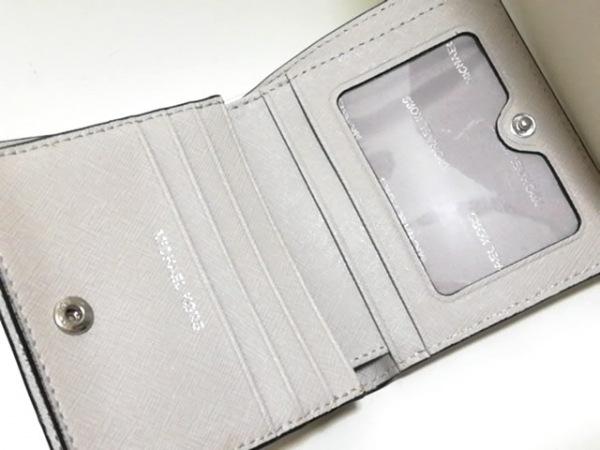MICHAEL KORS(マイケルコース) 2つ折り財布 - ベージュ レザー 3