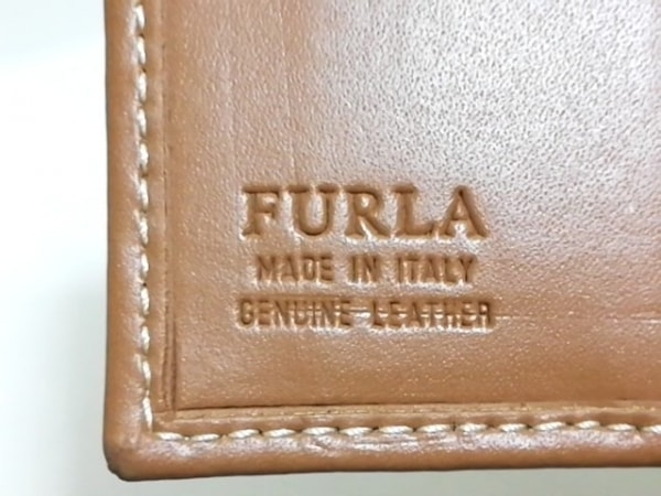 FURLA(フルラ) カードケース ライトブラウン レザー 4