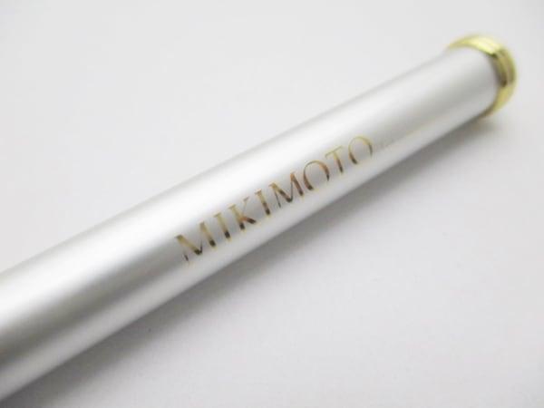 ミキモト ボールペン美品  白×ゴールド インクあり(黒) 金属素材 2