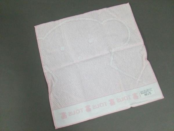 TOUS(トウス) ハンカチ新品同様  ピンク×白 2