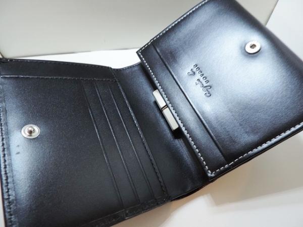 agnes b(アニエスベー) 2つ折り財布美品  黒 VOYAGE レザー 3