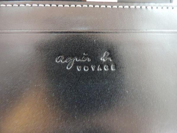 agnes b(アニエスベー) 2つ折り財布美品  黒 VOYAGE レザー 5