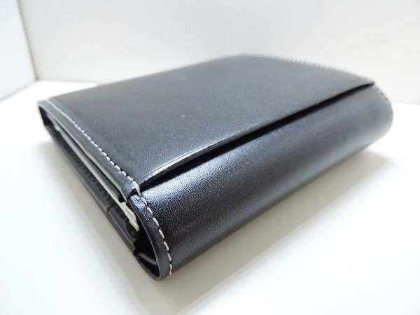 agnes b(アニエスベー) 2つ折り財布美品  黒 VOYAGE レザー 8