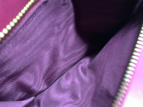 ミュウミュウ 3つ折り財布 - ピンク リボン エナメル(レザー) 4