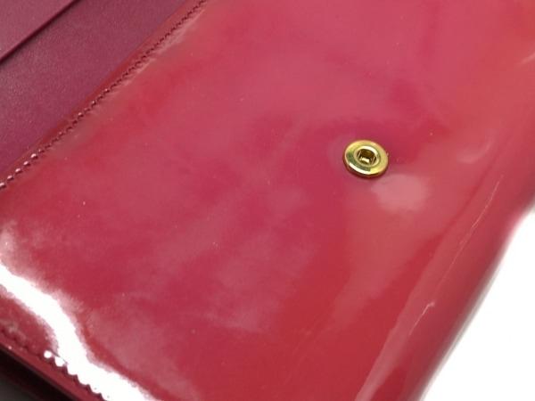 ミュウミュウ 3つ折り財布 - ピンク リボン エナメル(レザー) 6