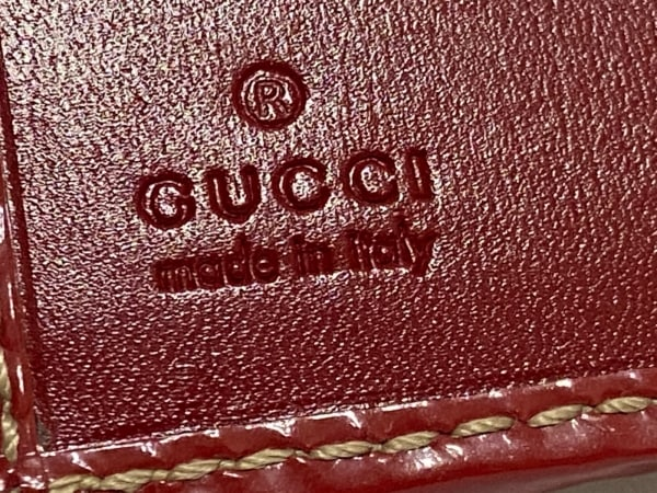 GUCCI(グッチ) 3つ折り財布 - 211846 アイボリー×レッド×ネイビー 5