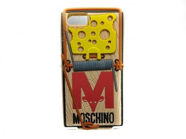 モスキーノ 携帯電話ケース アイボリー×イエロー×レッド×マルチ 1