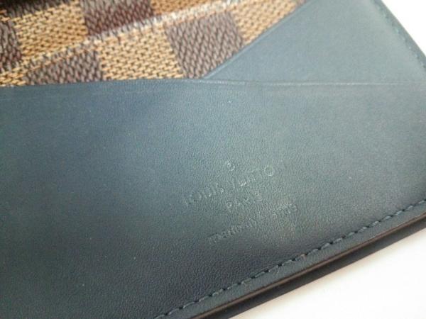 ルイヴィトン カードケース ダミエ新品同様  N63166 エベヌ×ブルー 4