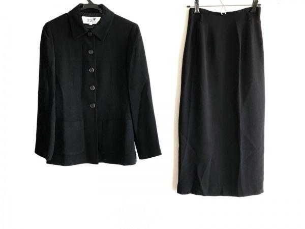 23区(ニジュウサンク) スカートスーツ サイズ32 XS レディース 黒 1