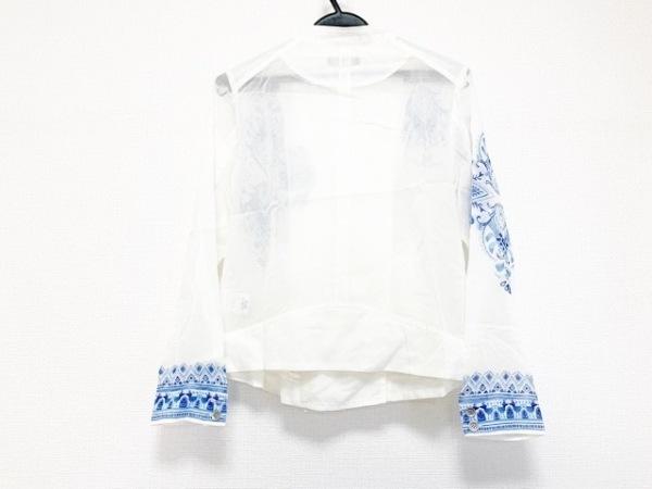 マッシュマニア ブルゾン サイズF レディース美品  白×ネイビー 2
