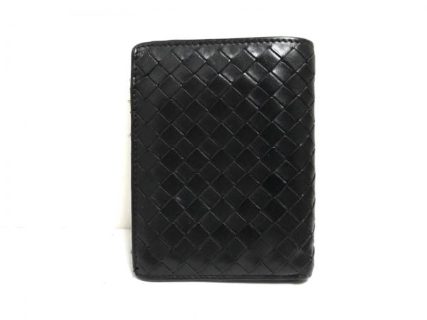 ボッテガヴェネタ カードケース イントレチャート 113113 黒 レザー 1