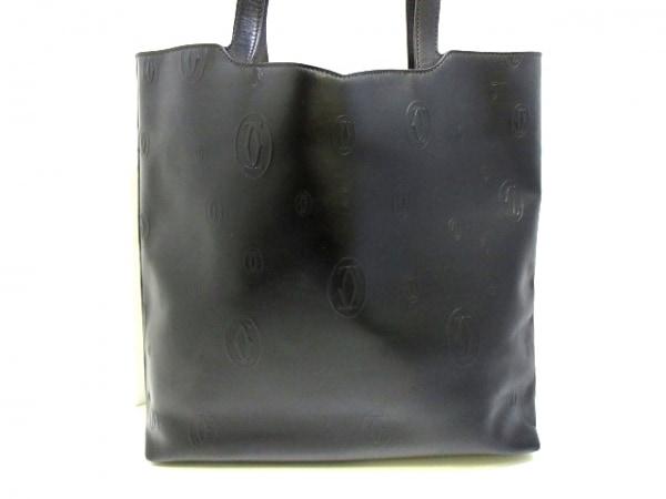 カルティエ トートバッグ美品  ハッピーバースデー 黒 レザー 1